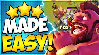 Easy Hog Rider Attack Strategy! How to Not Suck with Hogs at TH9 in Clash of Clans