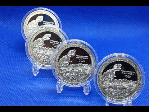 2020 Congo T Rex Silver Coin