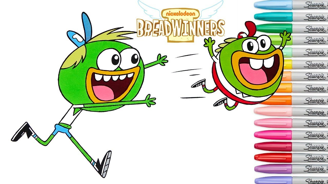 Breadwinners Coloring Book Pages Nickelodeon Rainbow Splash