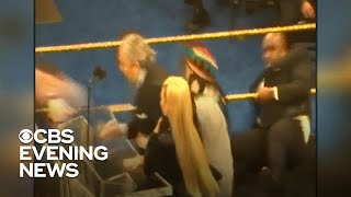 wwe-legend-bret-hart-tackled-during-hall-of-fame-speech