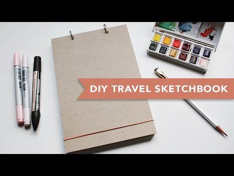 DIY | Travel Sketchbook (Super Easy)