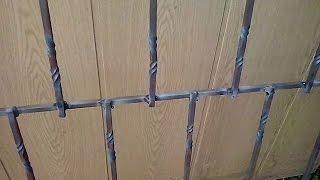 видео Как украсить решетки на окнах