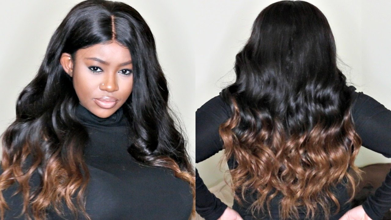 Diy Honey Blonde Ends Tutorial For Straight 250 Density Lace Wig