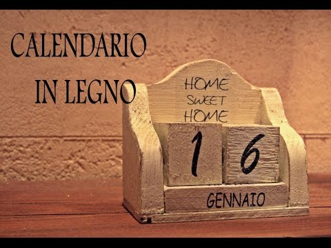 Calendario in legno shabby chic fai da te youtube for Youtube fai da te legno