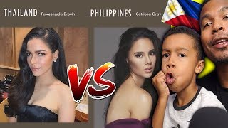 Who Do You Think Is The Most Beautiful ? | Face Off: Thailand Vs Philippines ( Women )