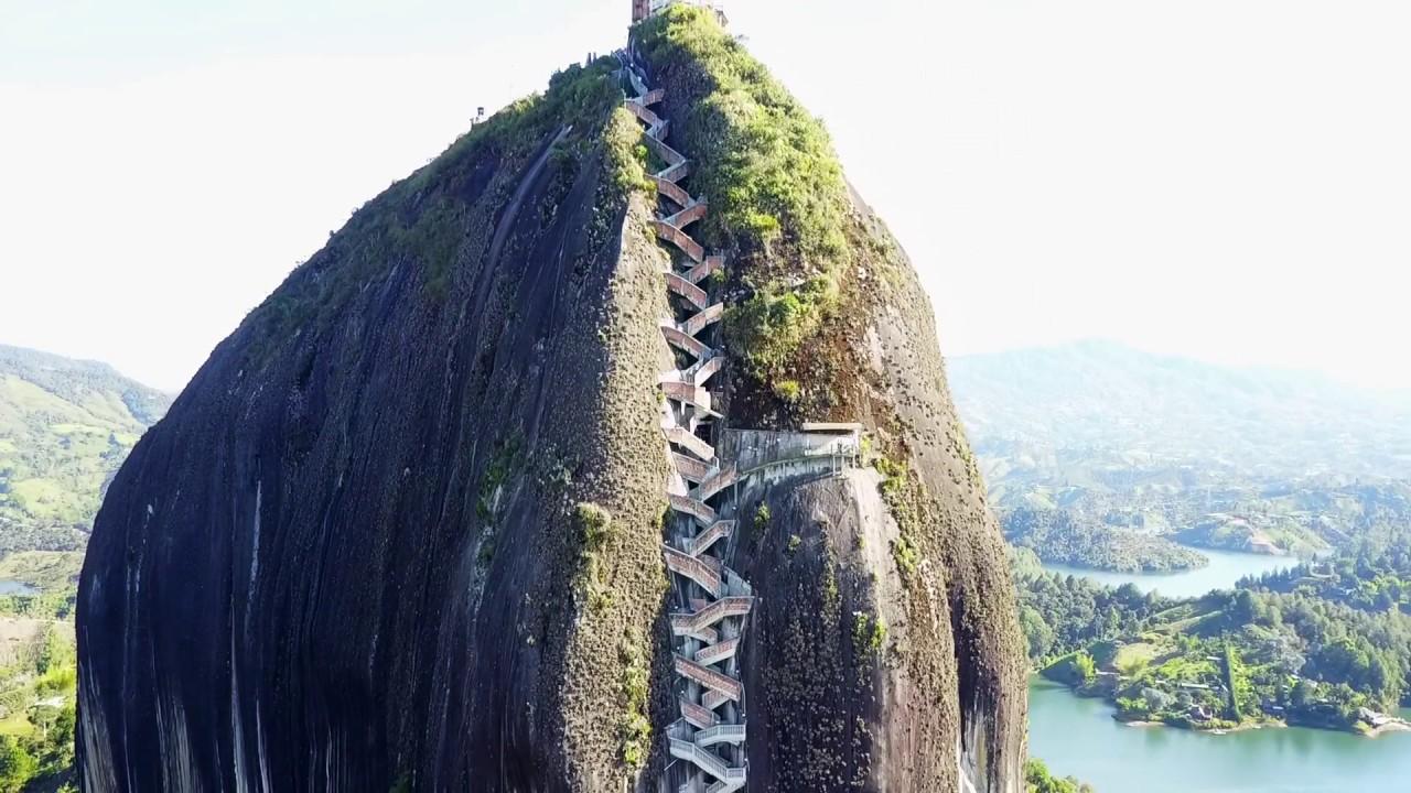 The Rock Of Guatape La Piedra Del Peñol Aerial View