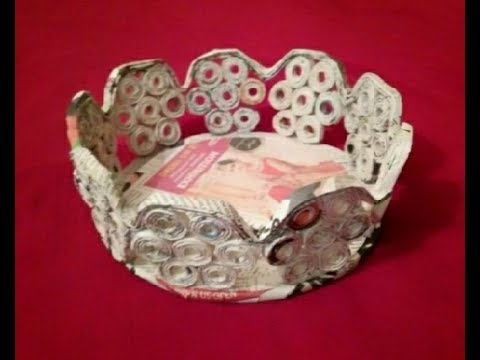 DIY Newspaper basket | Fruit basket | Newspaper craft