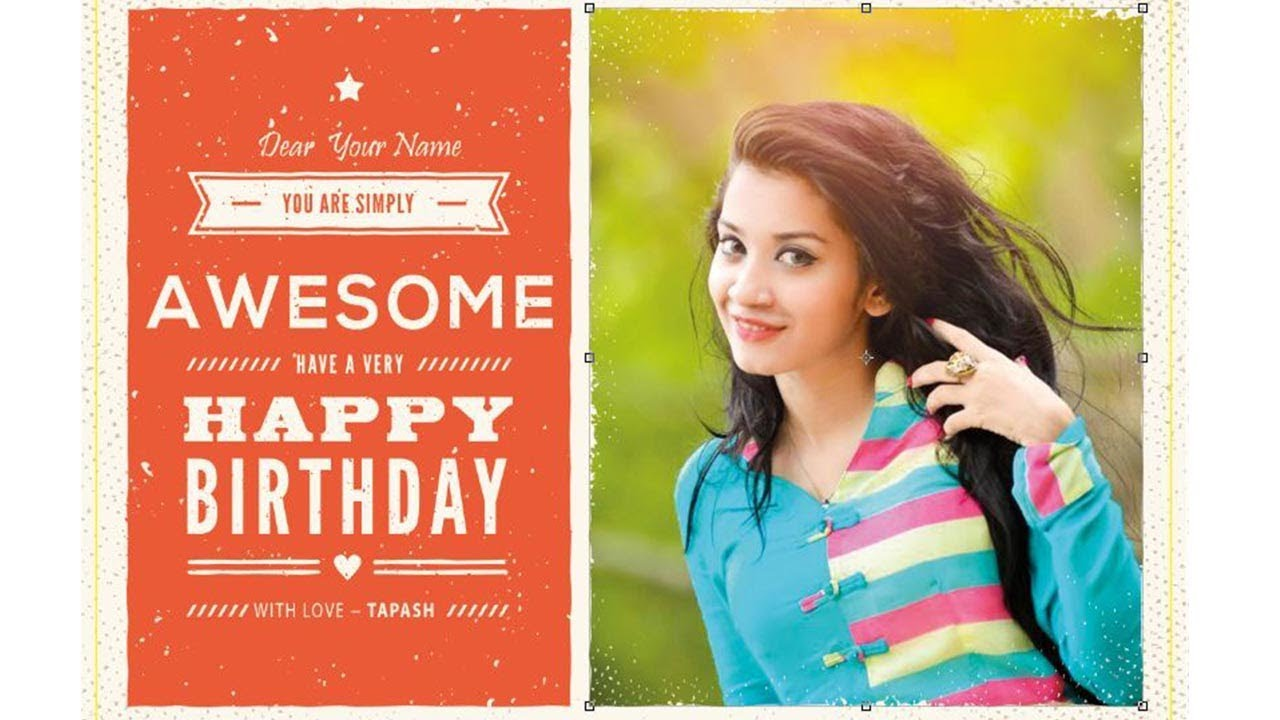 How To Create A Birthday Card In Photoshop Youtube