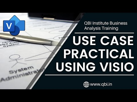 Use Case Diagram Practical through MS Visio - YouTube