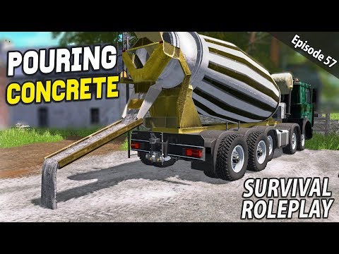 POURING CONCRETE | Survival Roleplay | Episode 57 thumbnail