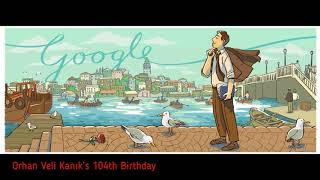 Google Doodles - Orhan Veli Kanık's 104th Birthday (13 April 2018)