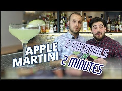 APPLE MARTINI Cocktail Recipe - 2 Cocktails in 2 Minutes