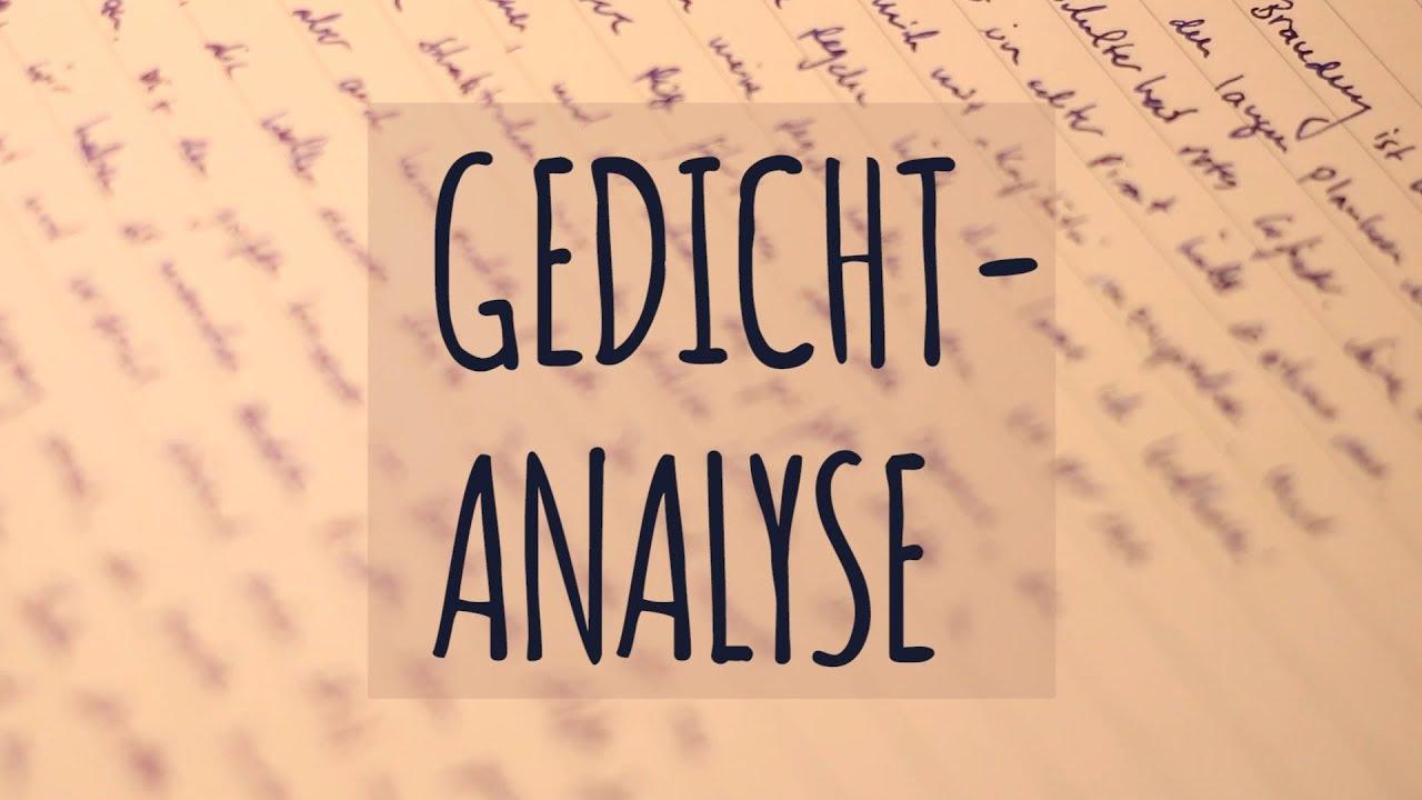 Gedichte reime analyse