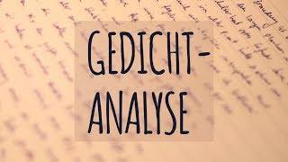Eine Gedichtanalyse Schreiben Methoden Online Kurse