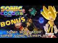 Sonic Colors (Wii) - BONUS: Sonic Simulator & Super Sonic Gameplay