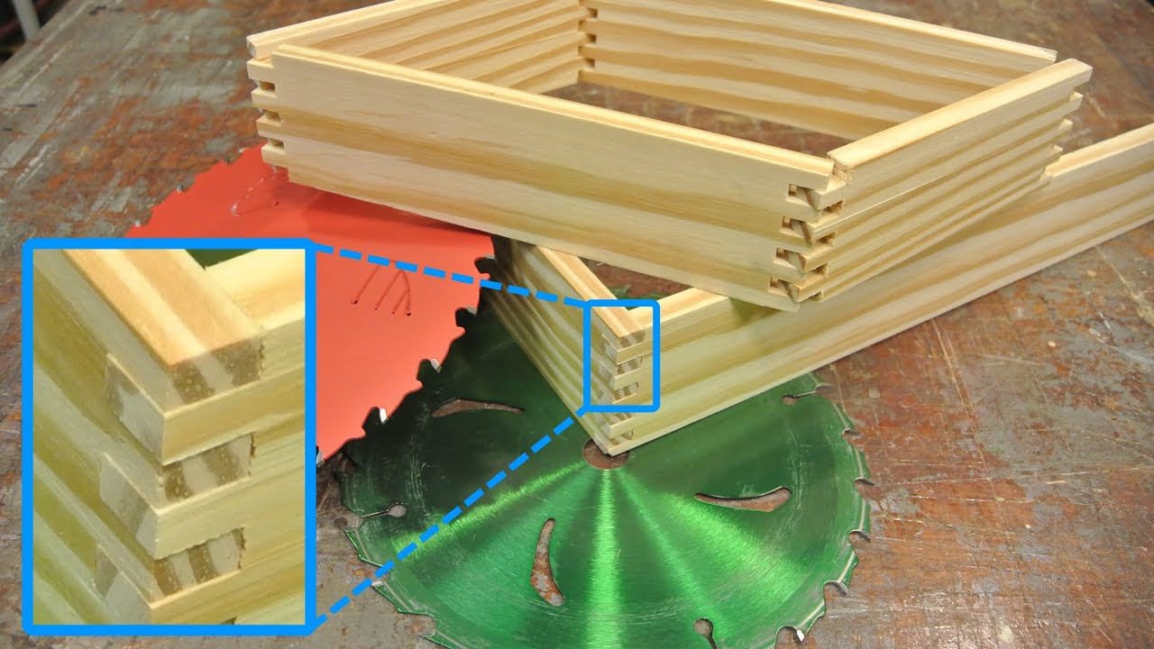Box joints without buying a dado set make one youtube greentooth Gallery