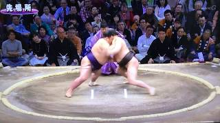 January 2018 - Day ONE - Hakuho v Onosho