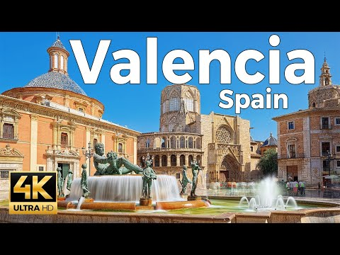 Valencia, Spain Walking Tour (4k Ultra HD 60fps)
