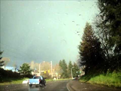 Fukushima Rain in Renton,WA near Boeing Field