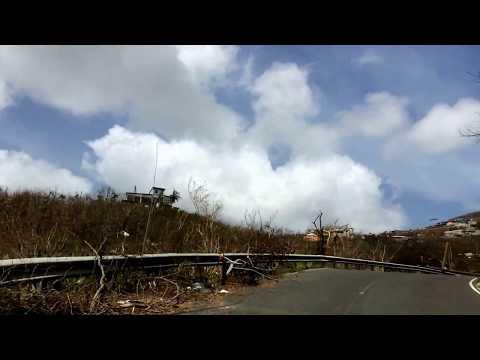Driving after hurricane Irma around ST.Thomas VI