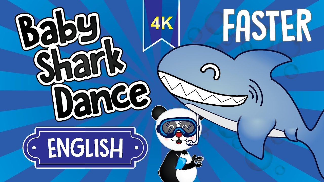 Baby Shark Dance Faster Let S Dance With Fofopanda And The Shark Family Baby Shark Faster 4k