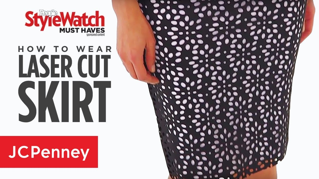 876ac515b746 Laser Cut Skirt: Women's Skirt Styles | JCPenney - YouTube