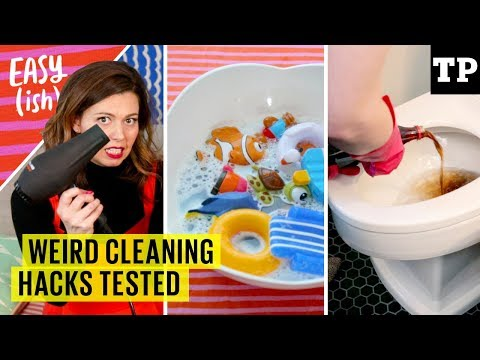 7 weird cleaning hacks tested: crayon on the wall, bath toys, stains + more | Easy(ish) S01E03
