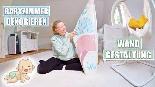 Babyzimmer einrichten 👶🏼 Wanddekoration & Gardinen aufhängen | Isabeau
