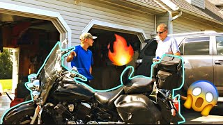 I bought my dad a Motorcycle!!
