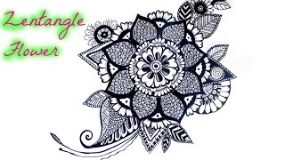 Draw a Zentangle Flower
