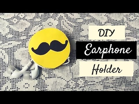 art-and-craft:-earphone-holder-recycling-old-notebook?!-diy-earphone-holder!