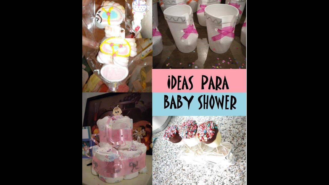 Ideas para baby shower dulceros postres juegos for Como decorar mesa de postres para baby shower