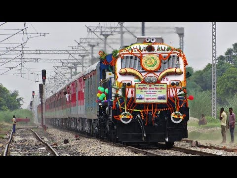 Beautifully DECORATED TRAIN | 02433 GHAZIPUR - ANAND VIHAR INAUGURAL SPECIAL !!