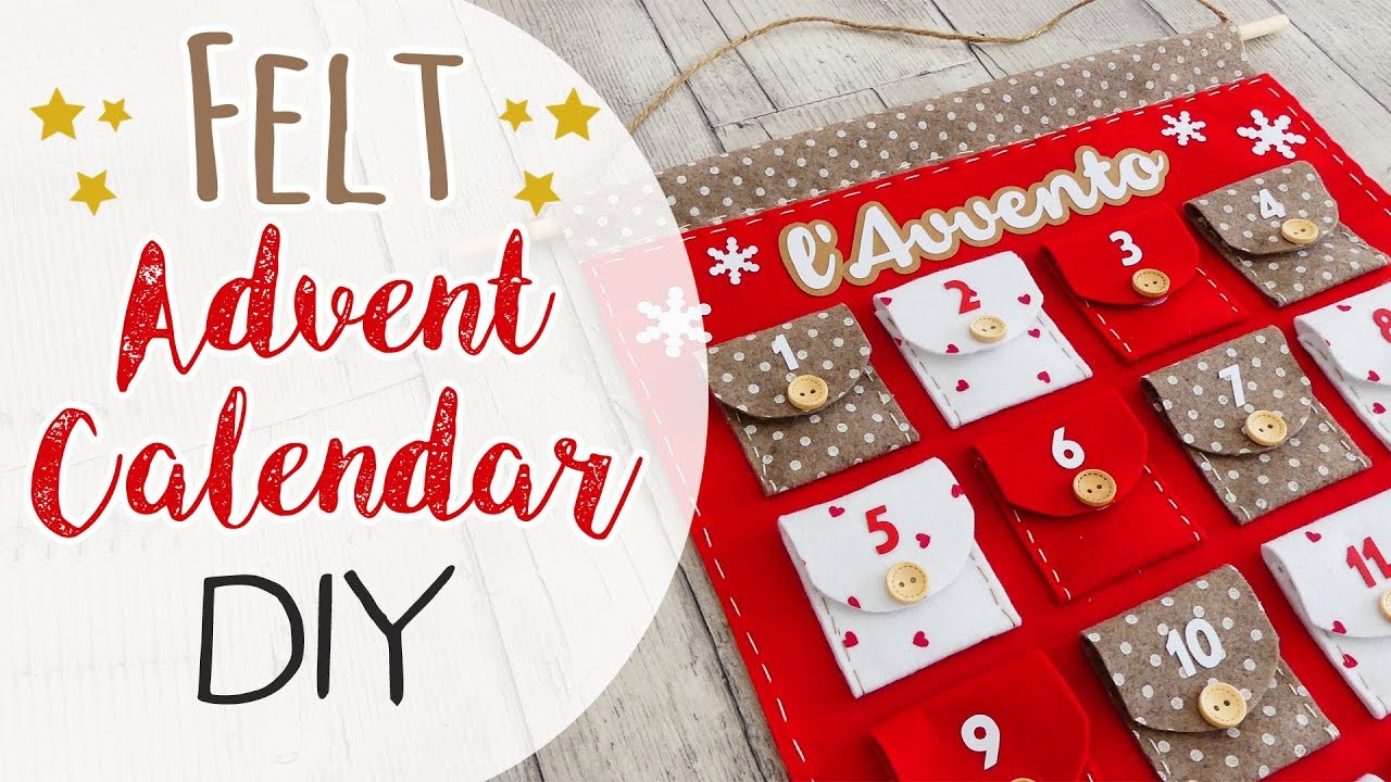 Calendario Dellavvento.Calendario Dell Avvento In Feltro Felt Advent Calendar Diy