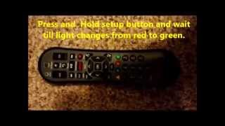 how to program comcast xr2 remote to sony tv