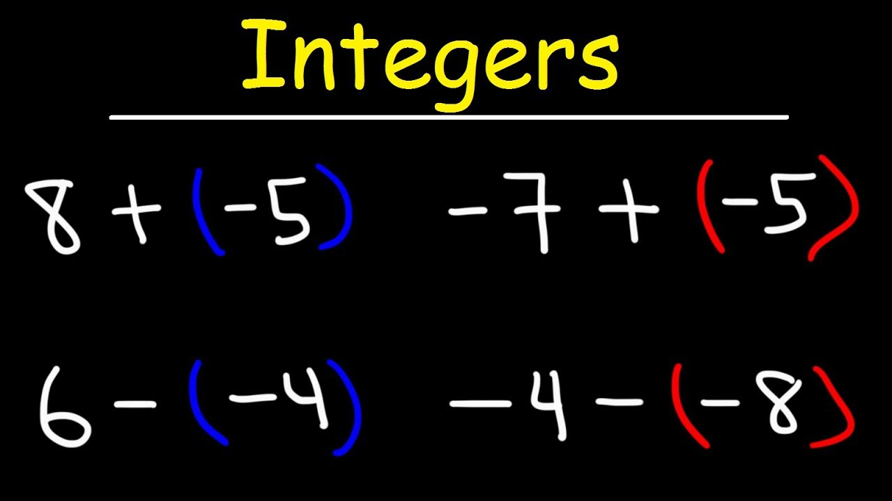 - Adding And Subtracting Integers Using A Simple Method - YouTube