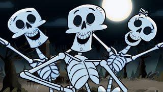 LOS ALEGRES ESQUELETOS, el baile de los esqueletos, canciones infantiles thumbnail