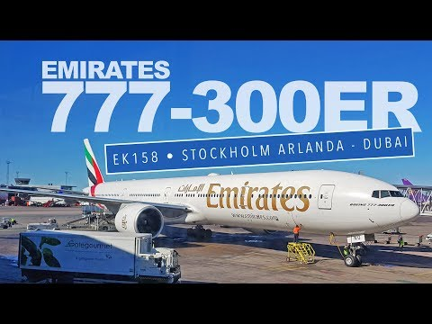 TRIP REPORT | Emirates Boeing 777-300ER to Dubai | ARN-DXB