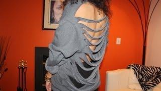 DIY Cutout Sweatshirt #DIYGawd