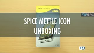 Spice Stellar Mettle Icon Unboxing