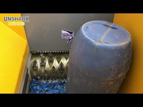 ENERPAT Plastic Drum Shredder,Chemical Drum Shredder,Unshark Single Shaft Shredder