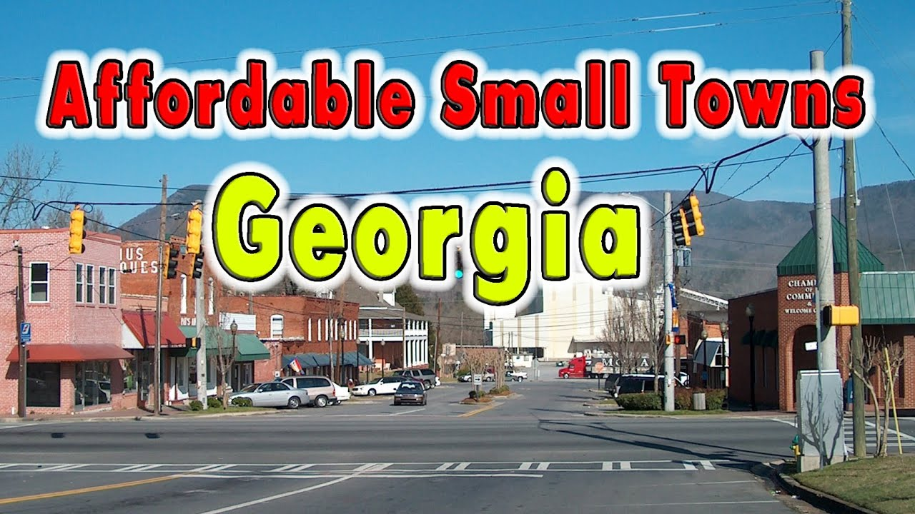 10 Cheapest and Nice Towns in Georgia, USA.