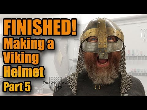 How to make Armor: MAKING A STEEL VIKING HELMET!!! - Part 5