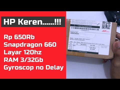 HP 600rb Snapdragon 660 layar 120hz Unboxing Sharp Aquos R Compact