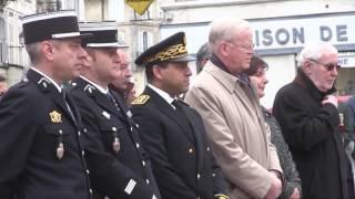 Journée du souvenir du 19 mars 2017 - Monument aux morts d'Avallon (89)