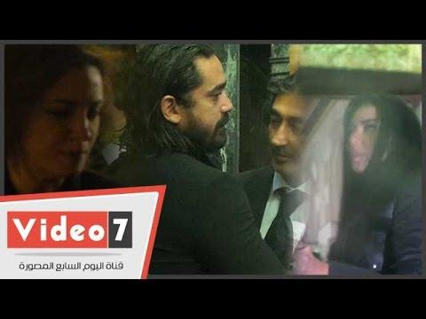 اليوم السابع : أمير كرارة ورانيا يوسف وريهام عبد الغفور بعزاء والد المخرج محمد بكير