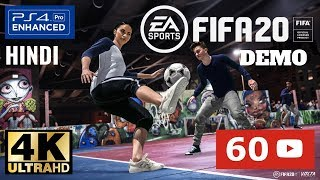 FIFA 20 Demo - HINDI Game play - in 4K & 60 FPS [PS4 PRO] / Видео