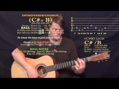 Antidote (Travis Scott) Guitar Lesson Chord Chart - C# B