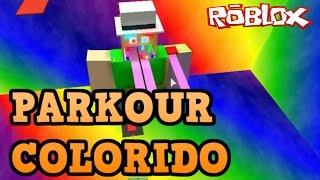 Roblox - PARKOUR COLORIDO com (Erro de gravação)