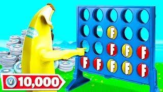 CONNECT 4 to WIN 10,000 VBUCKS! (Fortnite Custom Gamemode)
